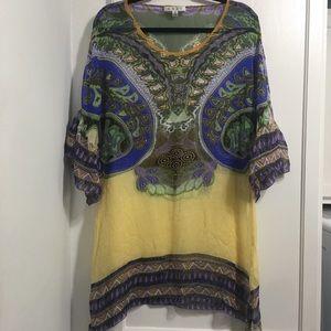 CAbi Silk Tunic Blouse